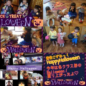 ハロウィンの仮装をする子どもと親子たち
